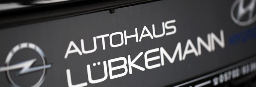 Nummernschild Autohaus Lübkemann